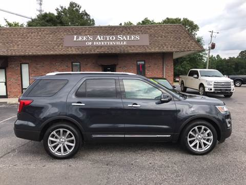 2017 Ford Explorer for sale at Lee's Auto Sales of Fayetteville INC in Eastover NC