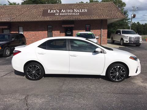2016 Toyota Corolla for sale at Lee's Auto Sales of Fayetteville INC in Eastover NC