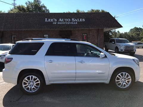 2015 GMC Acadia for sale at Lee's Auto Sales of Fayetteville INC in Eastover NC