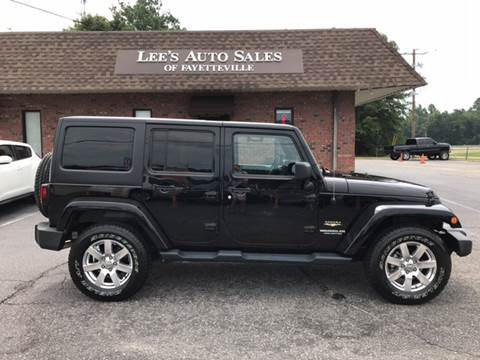2013 Jeep Wrangler Unlimited for sale at Lee's Auto Sales of Fayetteville INC in Eastover NC