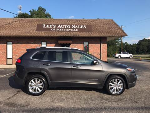 2016 Jeep Cherokee for sale at Lee's Auto Sales of Fayetteville INC in Eastover NC