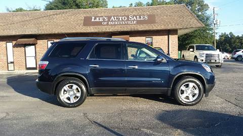 2008 GMC Acadia for sale at Lee's Auto Sales of Fayetteville INC in Eastover NC