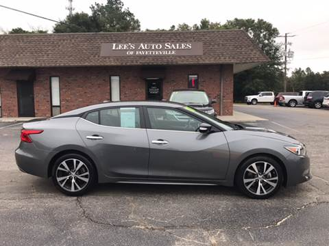 2017 Nissan Maxima for sale at Lee's Auto Sales of Fayetteville INC in Eastover NC