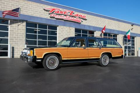 1987 Ford LTD Crown Victoria Country Squire LX for sale at Fast Lane Classic Cars in St. Charles MO