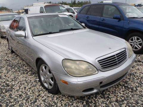 2002 Mercedes-Benz S-Class for sale at AUTO & GENERAL INC in Fort Lauderdale FL