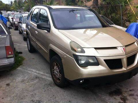 2003 Pontiac Aztek for sale at AUTO & GENERAL INC in Fort Lauderdale FL