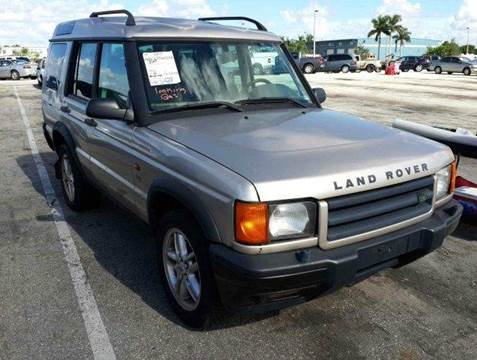 2001 Land Rover Discovery Series II for sale at AUTO & GENERAL INC in Fort Lauderdale FL