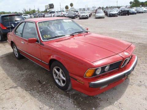 1988 BMW 6 Series for sale at AUTO & GENERAL INC in Fort Lauderdale FL