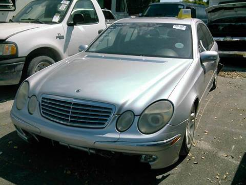 2003 Mercedes-Benz E-Class for sale at AUTO & GENERAL INC in Fort Lauderdale FL