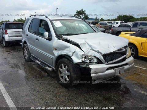 2001 Mercedes-Benz M-Class for sale at AUTO & GENERAL INC in Fort Lauderdale FL