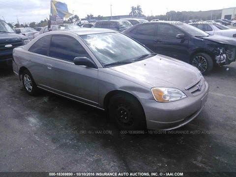 2002 Honda Civic for sale at AUTO & GENERAL INC in Fort Lauderdale FL