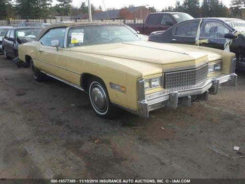 1975 Cadillac Eldorado for sale at AUTO & GENERAL INC in Fort Lauderdale FL
