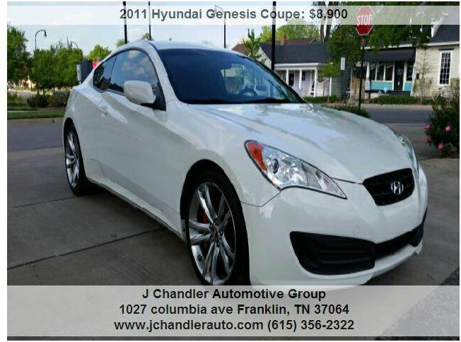 2011 Hyundai Genesis Coupe 2 0t R Spec 2dcoupe In Franklin