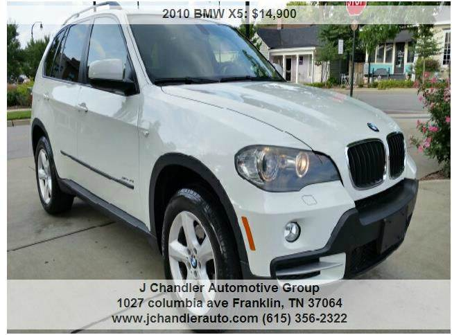 Bmw X XDrivei AWD Dr SUV In Franklin TN J Chandler - Bmw 2010 suv