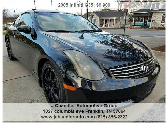 Superior 2005 Infiniti G35 Base Rwd 2dr Coupe   Franklin TN