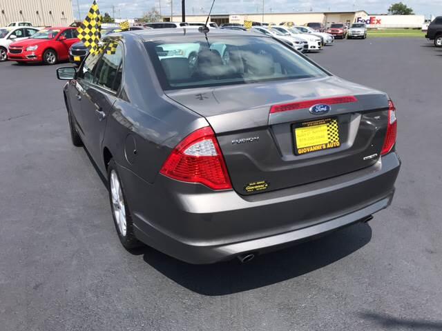 2012 Ford Fusion for sale at Giovannis Auto in Peru IL
