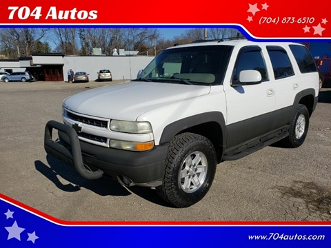 2004 Chevrolet Tahoe Z71 for sale at 704 Autos in Statesville NC