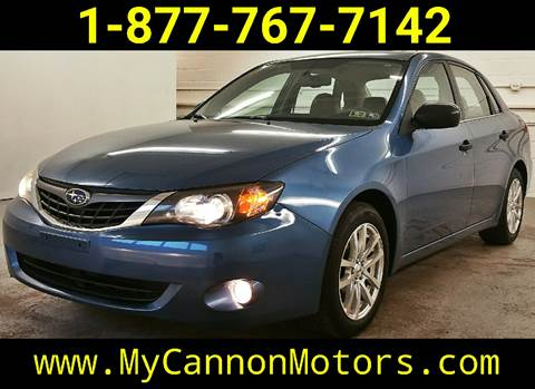 2008 Subaru Impreza for sale at Cannon Motors in Silverdale PA