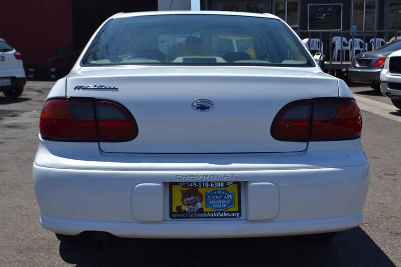 2003 Chevrolet Malibu for sale at Platinum Auto Sales in Costa Mesa CA