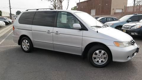 2002 Honda Odyssey for sale at Platinum Auto Sales in Costa Mesa CA