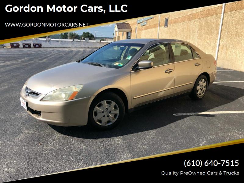 2003 Honda Accord for sale at Gordon Motor Cars, LLC in Frazer PA
