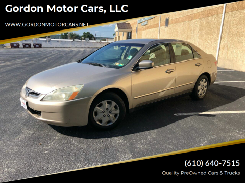 2003 Honda Accord for sale at Gordon Motor Cars, LLC in Frazer PA