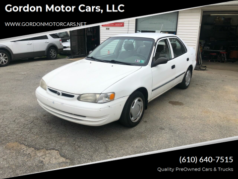 2000 Toyota Corolla for sale at Gordon Motor Cars, LLC in Frazer PA