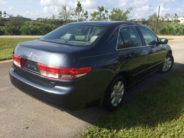 2003 Honda Accord for sale at Tropical Motors Car Sales in Pompano Beach FL