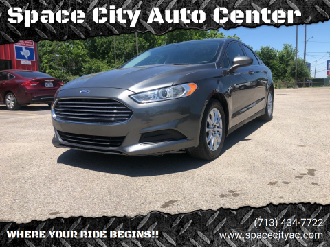 2015 Ford Fusion for sale at Space City Auto Center in Houston TX