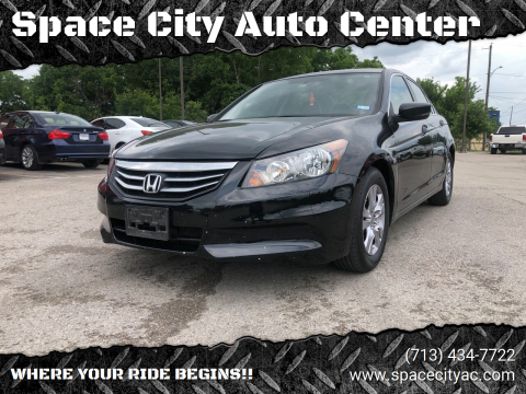 2012 Honda Accord for sale at Space City Auto Center in Houston TX