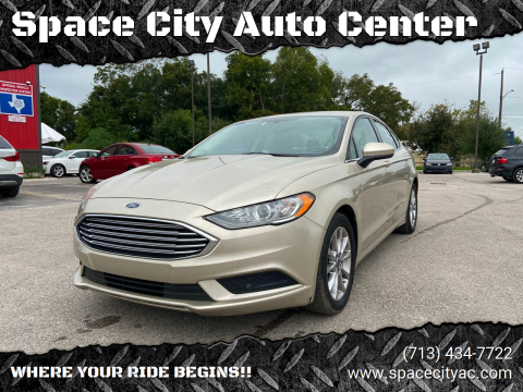 2017 Ford Fusion for sale at Space City Auto Center in Houston TX