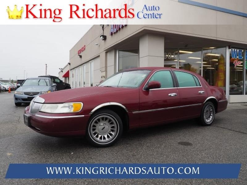 1998 Lincoln Town Car Cartier 4dr Sedan In East Providence Ri King