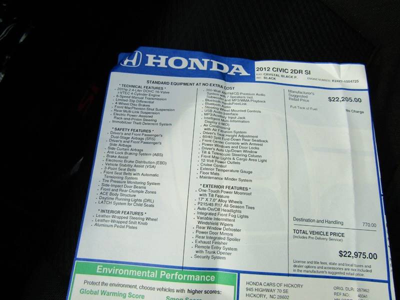 2012 Honda Civic for sale at Specialty Car Company in North Wilkesboro NC