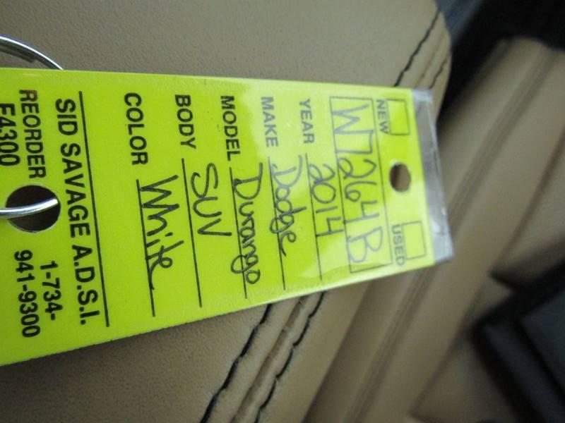 2014 Dodge Durango for sale at Specialty Car Company in North Wilkesboro NC