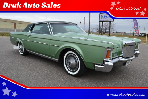 1971 Lincoln Continental for sale at Druk Auto Sales in Ramsey MN