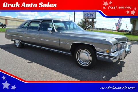 1973 Cadillac Fleetwood for sale at Druk Auto Sales in Ramsey MN