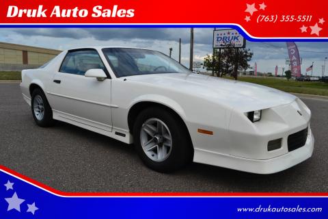 1989 Chevrolet Camaro for sale at Druk Auto Sales in Ramsey MN