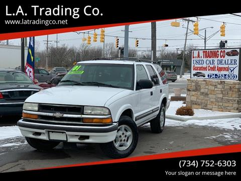 2001 Chevrolet Blazer for sale at L.A. Trading Co. in Woodhaven MI