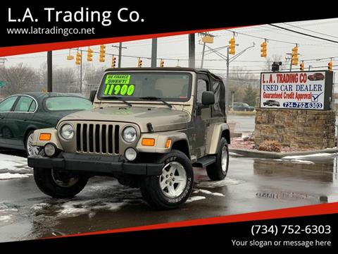 2004 Jeep Wrangler for sale at L.A. Trading Co. in Woodhaven MI