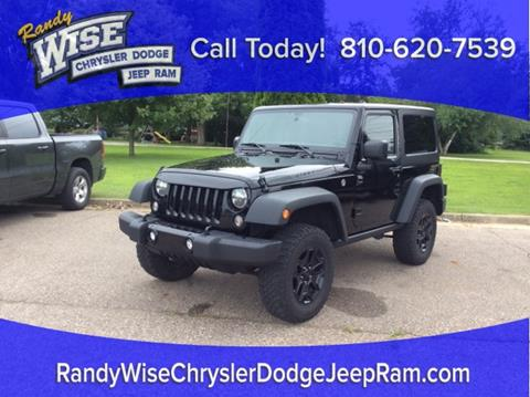 2016 Jeep Wrangler for sale in Clio, MI