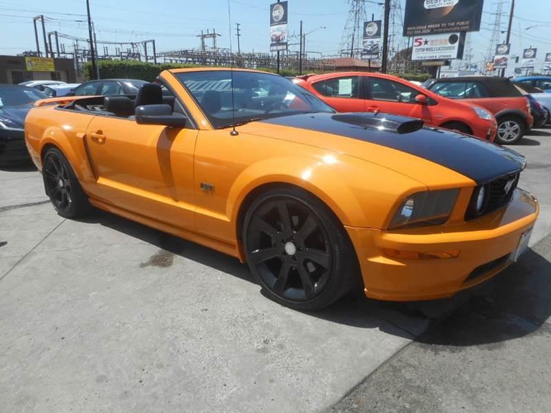 Ford Mustang Gt Premium Dr Convertible Bellflower Ca