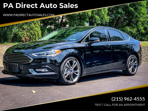 2017 Ford Fusion for sale at PA Direct Auto Sales in Levittown PA