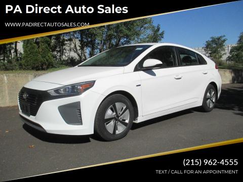2017 Hyundai Ioniq Hybrid for sale at PA Direct Auto Sales in Levittown PA