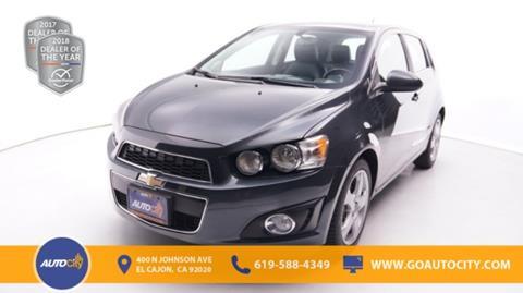 2014 Chevrolet Sonic for sale in El Cajon, CA