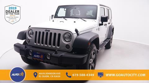 2014 Jeep Wrangler Unlimited for sale in El Cajon, CA