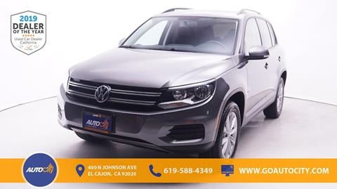 2017 Volkswagen Tiguan for sale in El Cajon, CA