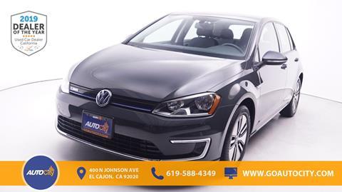 2016 Volkswagen e-Golf for sale in El Cajon, CA