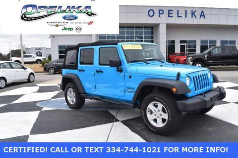 2017 Jeep Wrangler Unlimited for sale in Opelika, AL