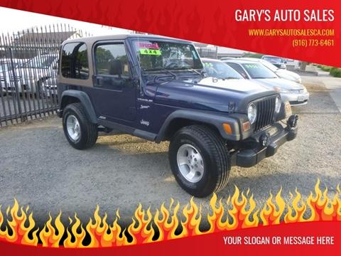2002 Jeep Wrangler for sale at gary battles in Roseville CA