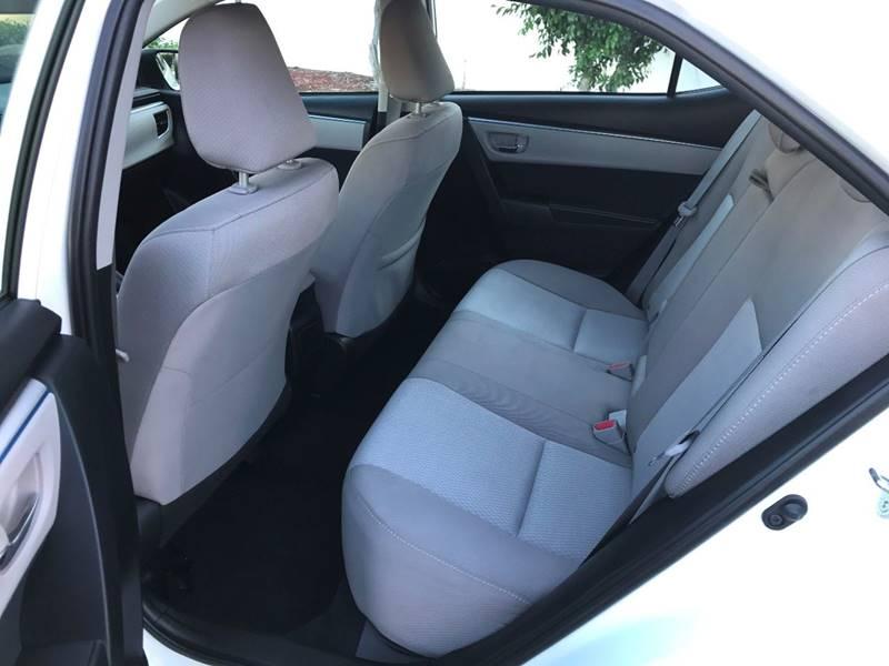 2016 Toyota Corolla LE 4dr Sedan - Upland CA